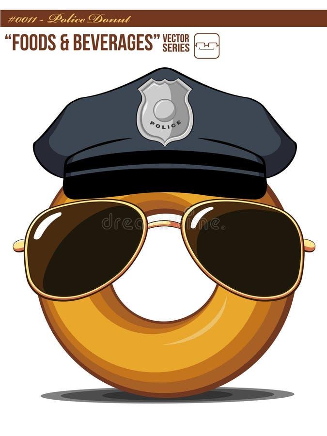 0011 d pączka f policja royalty ilustracja