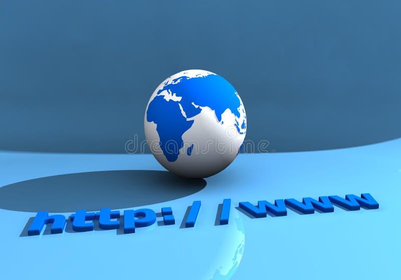 002地球万维网 图库摄影