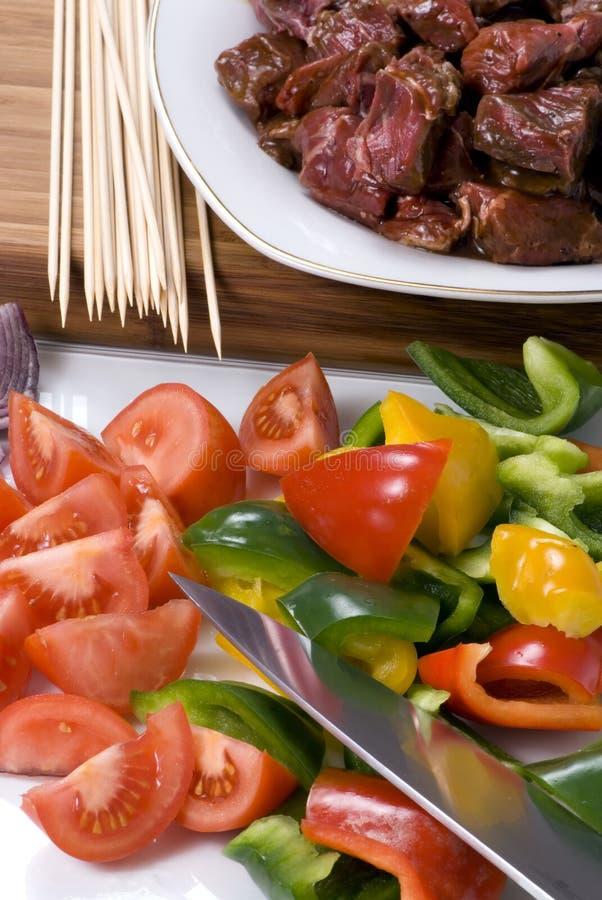 002 wołowiny shishkabobs fotografia stock