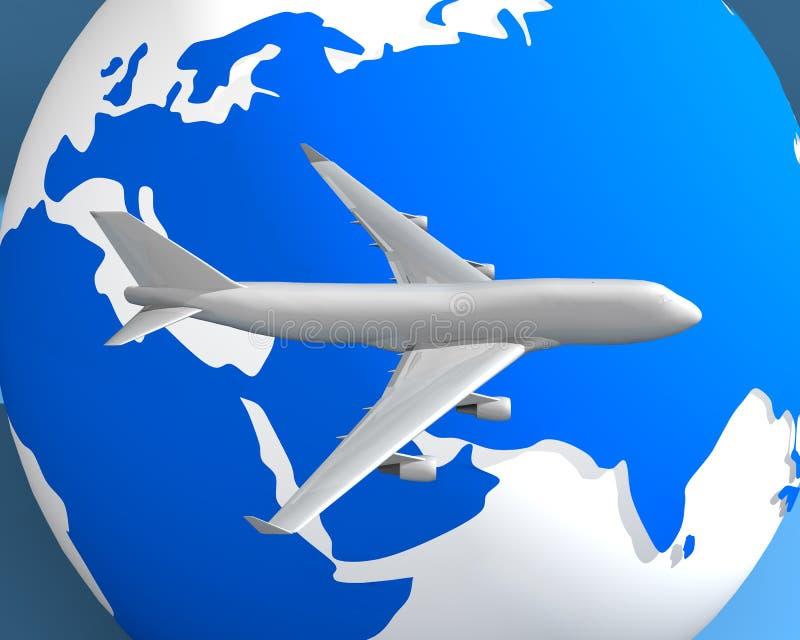 003个地球飞机 免版税图库摄影