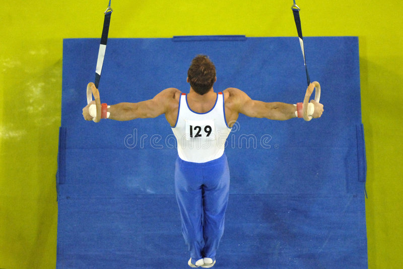 003 gymnastcirklar royaltyfri foto