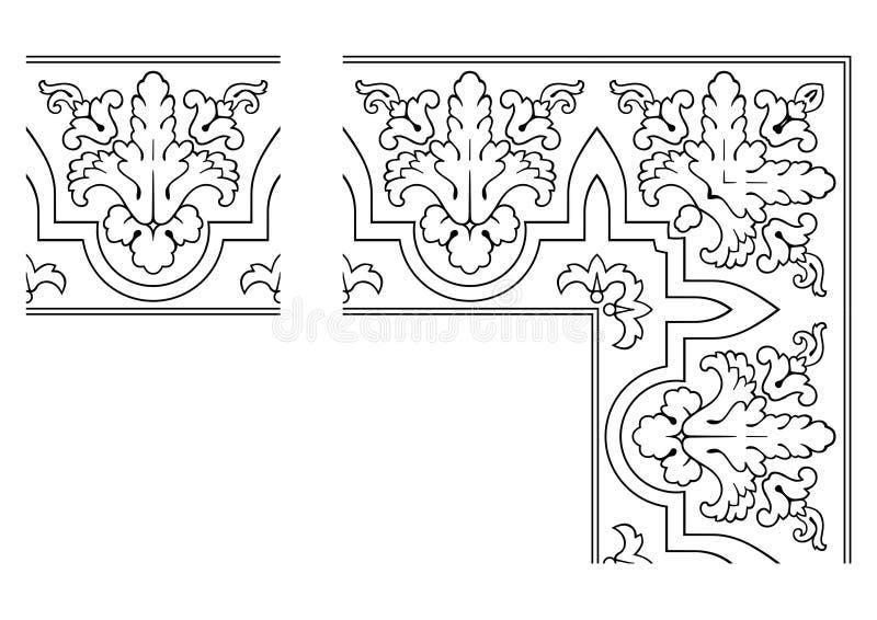 003 openwork graniczny wektora royalty ilustracja