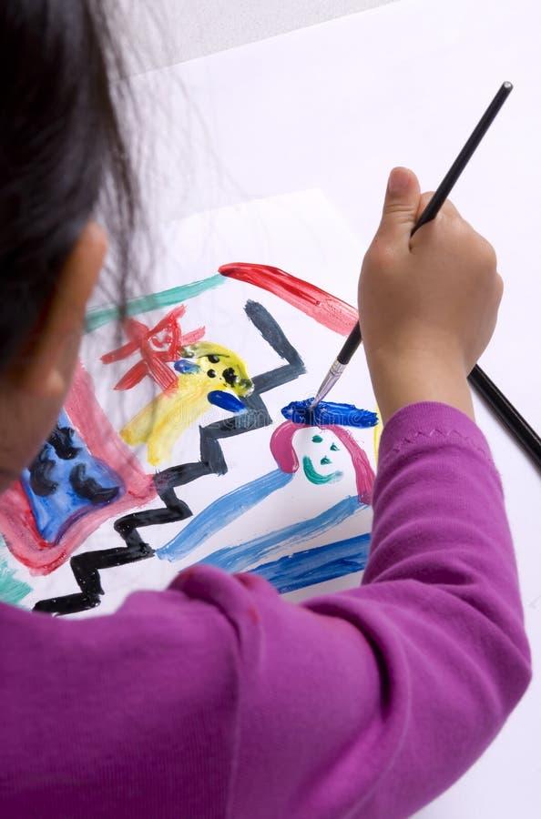 004童年绘画 免版税库存图片
