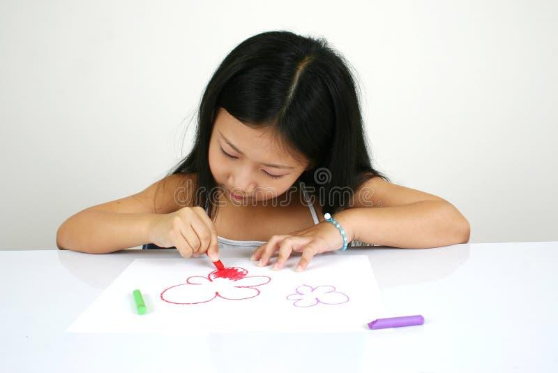 008 asiatiska barnbarn royaltyfria foton