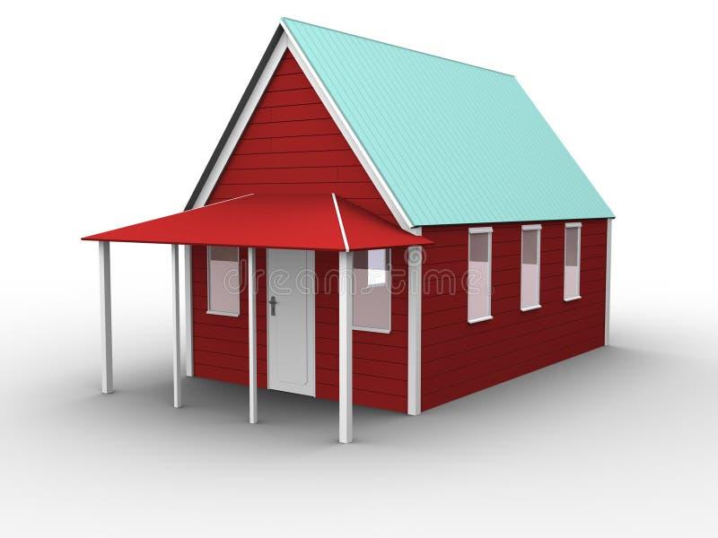 01个房子红色 库存例证