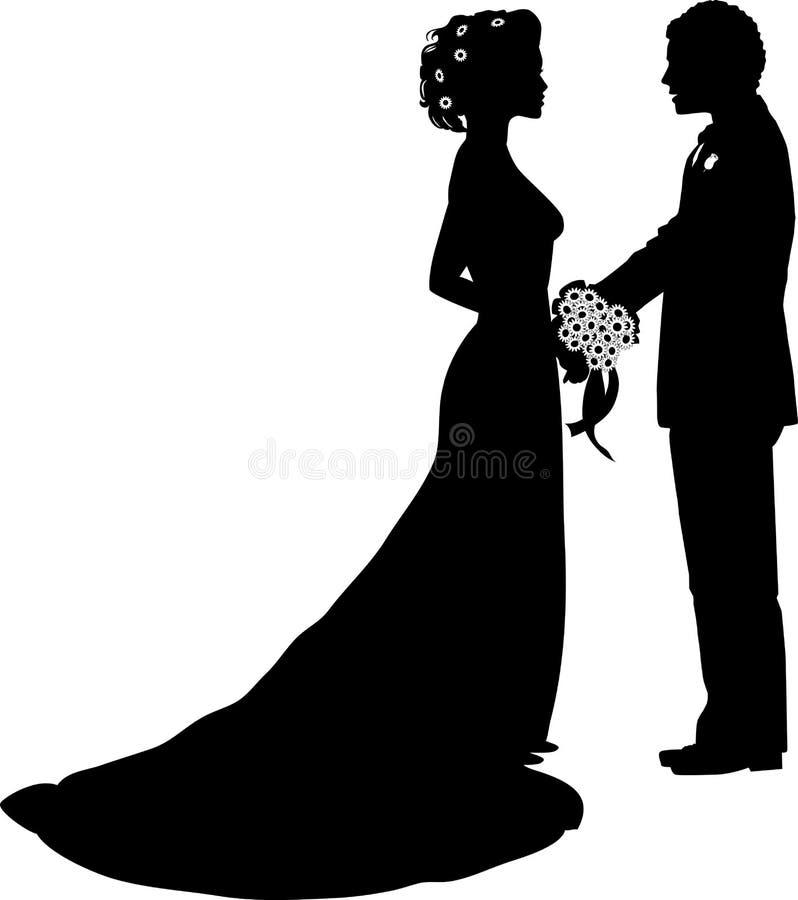 01个新娘新郎 向量例证