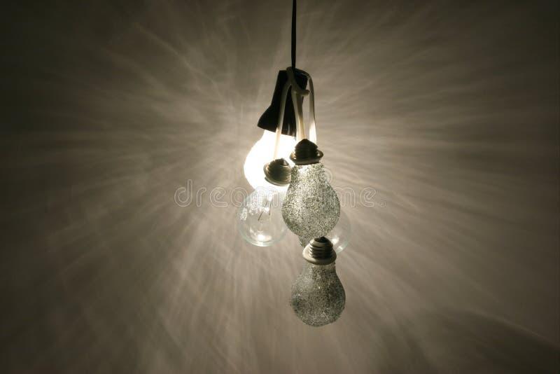 01个电灯泡光 免版税库存图片