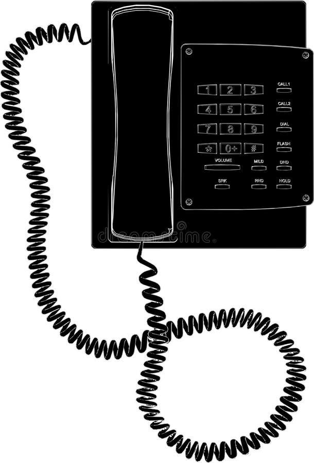 01个电话向量 皇族释放例证