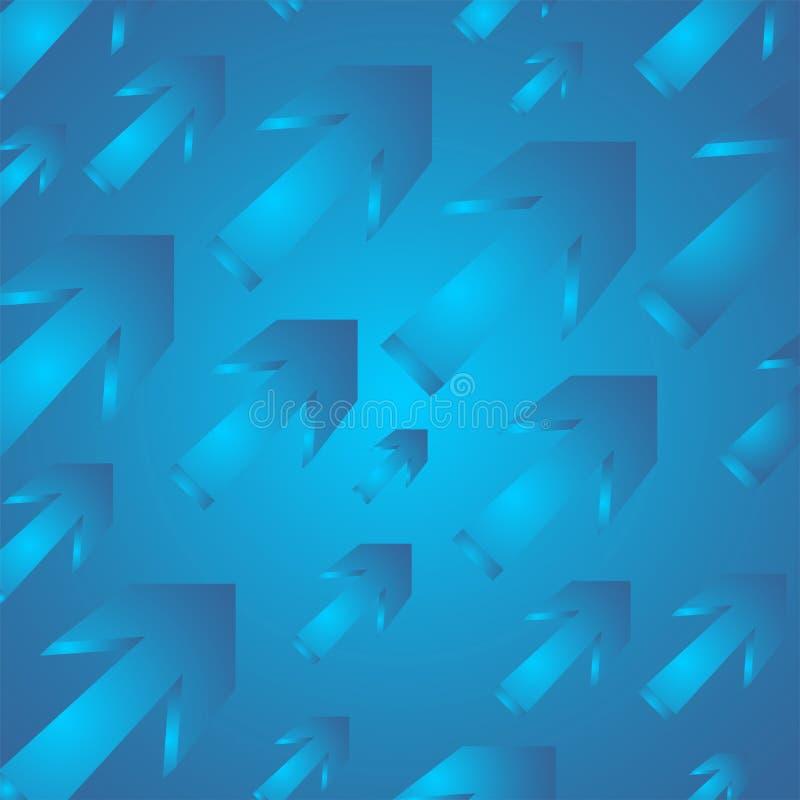 01个箭头模式 向量例证