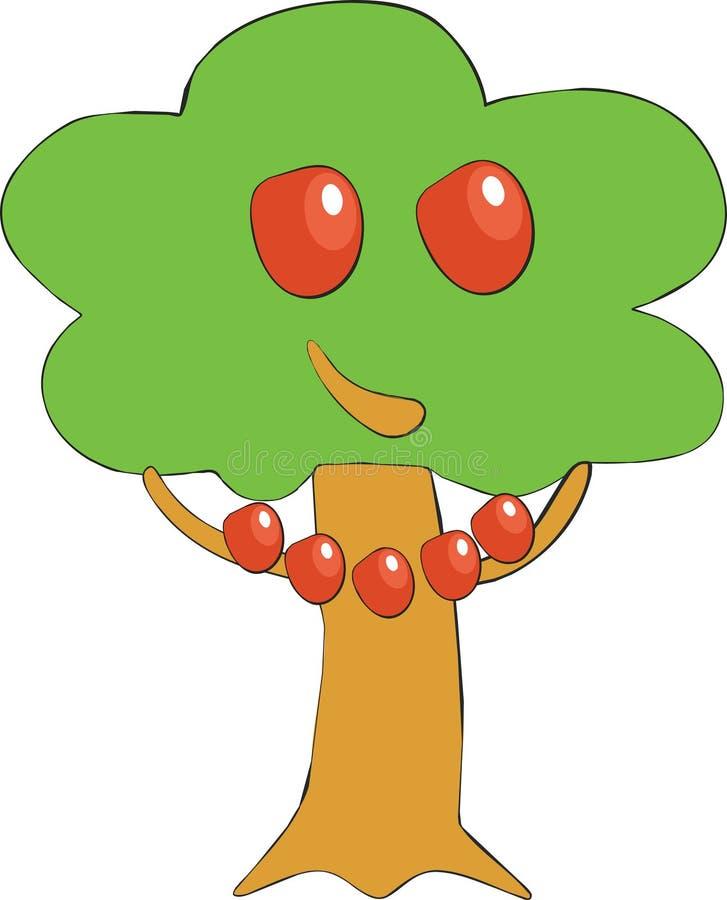 01个苹果颜色微笑结构树 向量例证