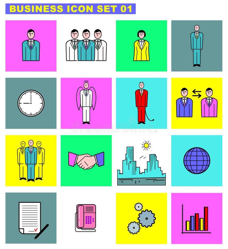 01企业图标集 向量例证