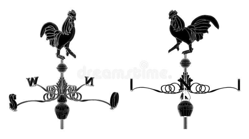 01只公鸡向量天气 皇族释放例证