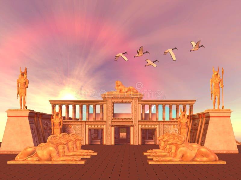 01埃及人王国 向量例证