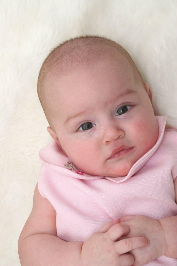 01女婴粉红色 免版税图库摄影