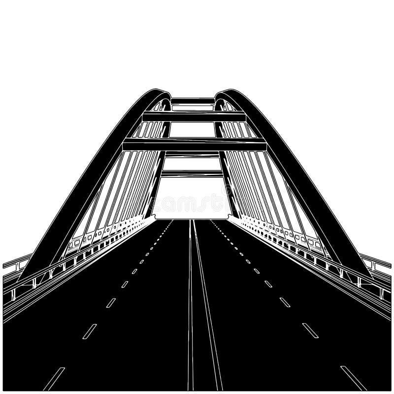 01座桥梁路向量 向量例证