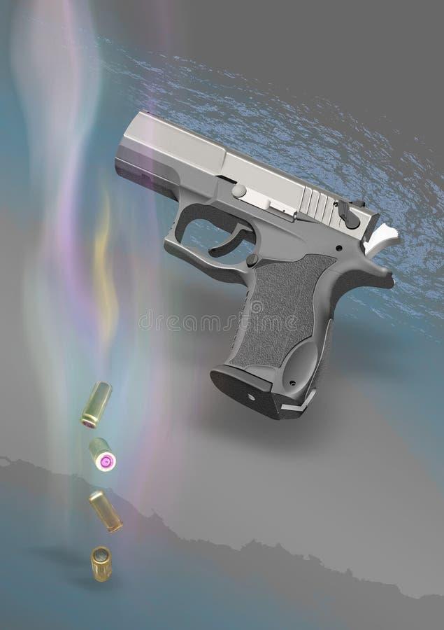 01手枪 免版税图库摄影