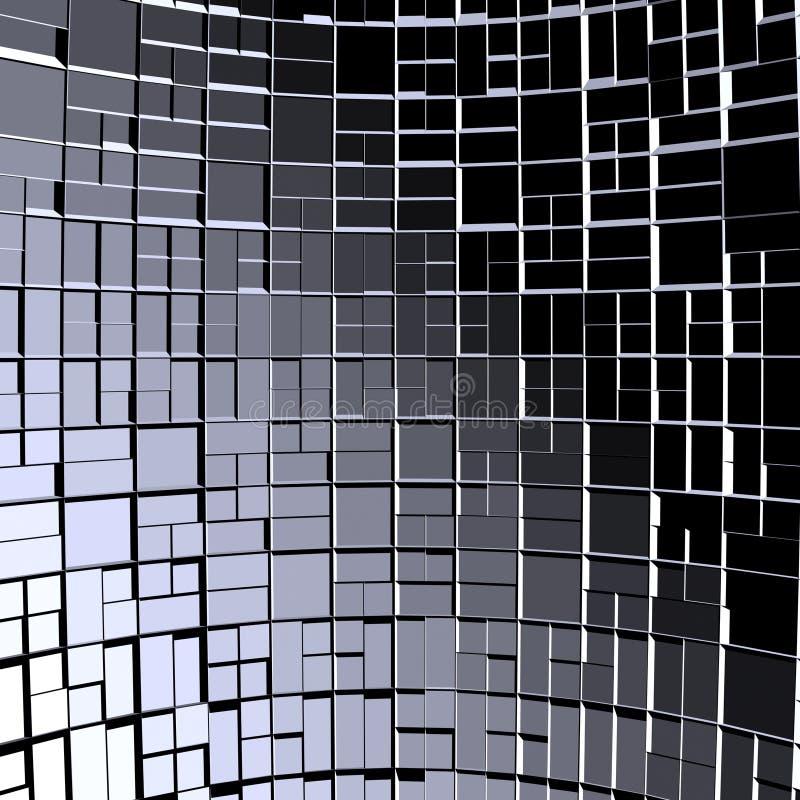 01抽象背景块多维数据集分数维 库存例证