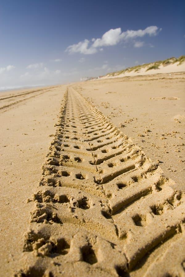 01次冒险沙子跟踪 库存照片