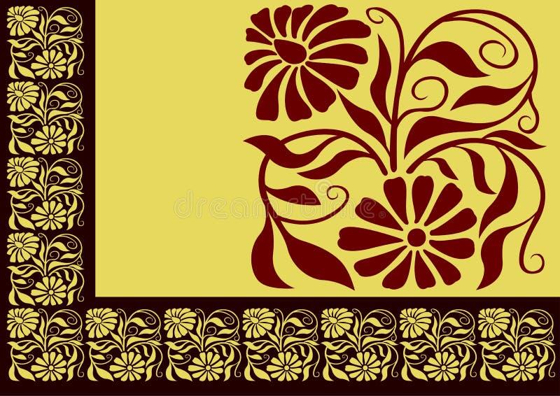 01花卉边界 向量例证
