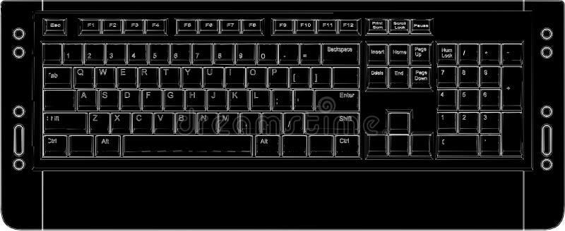 01计算机键盘向量 皇族释放例证