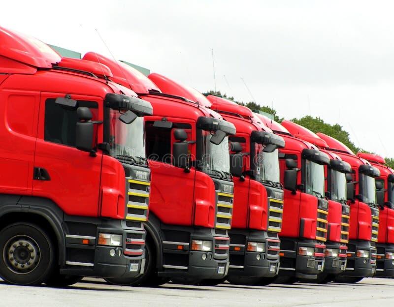 01辆红色卡车 库存照片