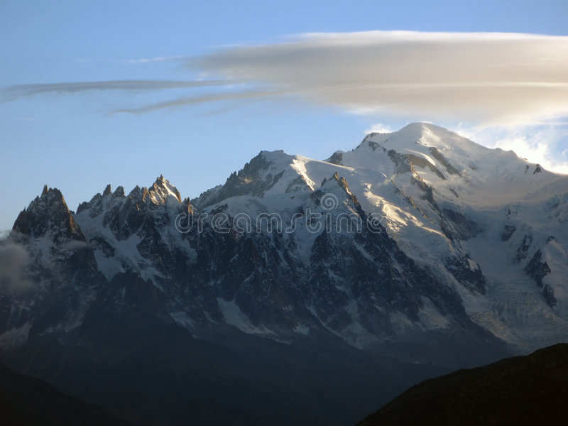 01阿尔卑斯blanc mont 库存图片