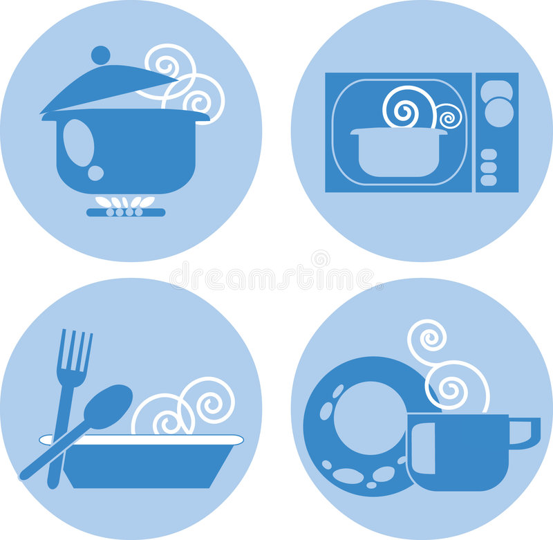 01食物符号 库存例证