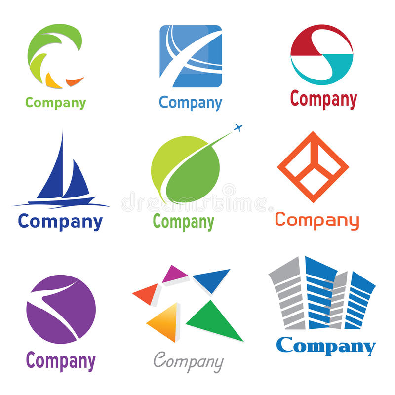 01 δείγματα λογότυπων σχεδίου απεικόνιση αποθεμάτων