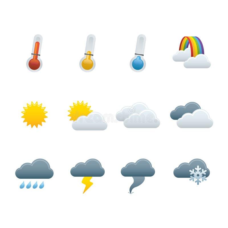 01 прогнозировали погоду икон иллюстрация штока
