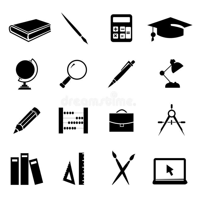 01 установленная икона образования бесплатная иллюстрация