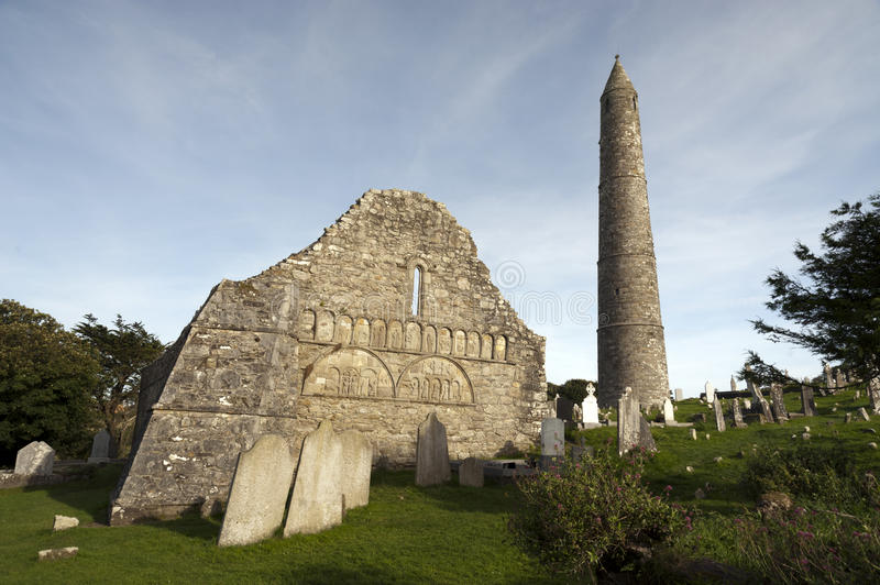 01.09.2013 - Ardmore Round Tower and Cathedral. stock image