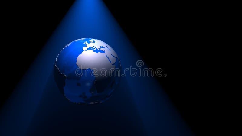 01 3d kuli ziemskiej błękitny noc royalty ilustracja