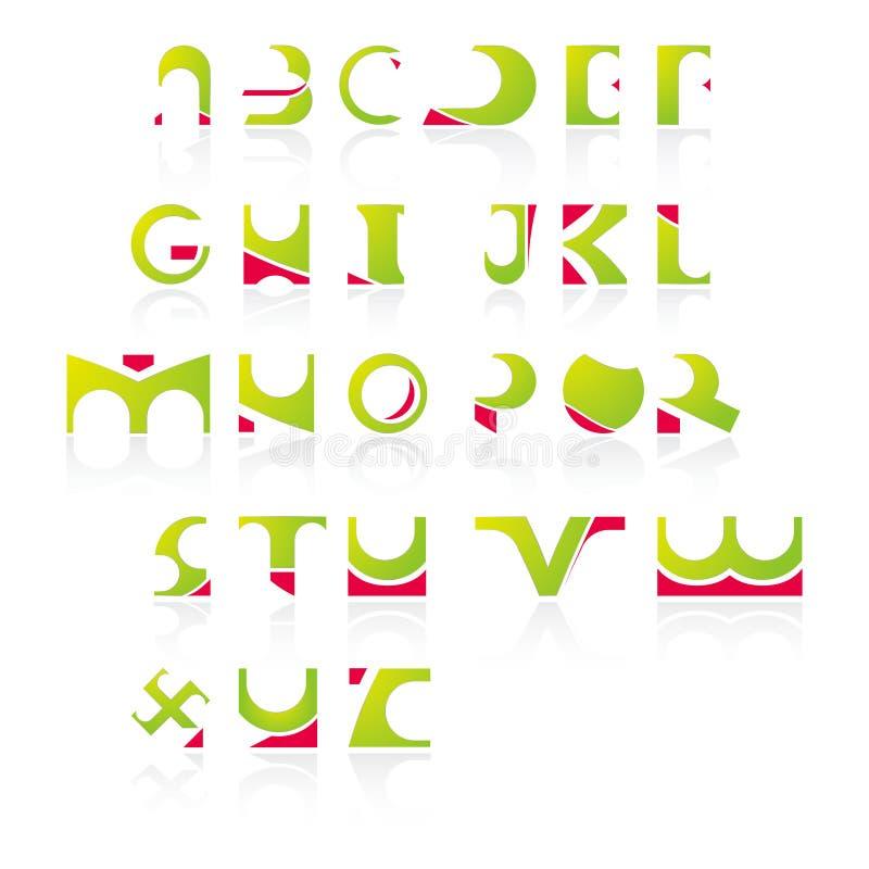01 alfabet som symboler vektor illustrationer