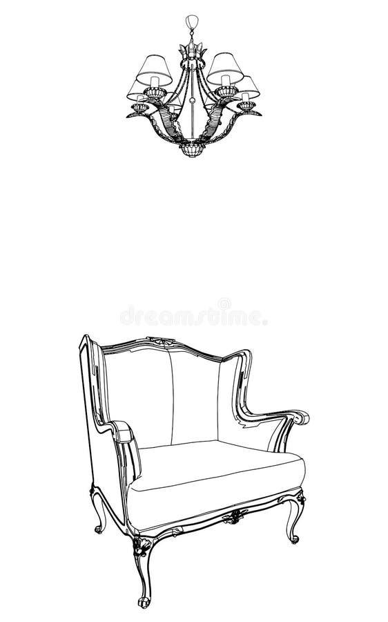 01 antykwarski karła świecznika wektor ilustracja wektor