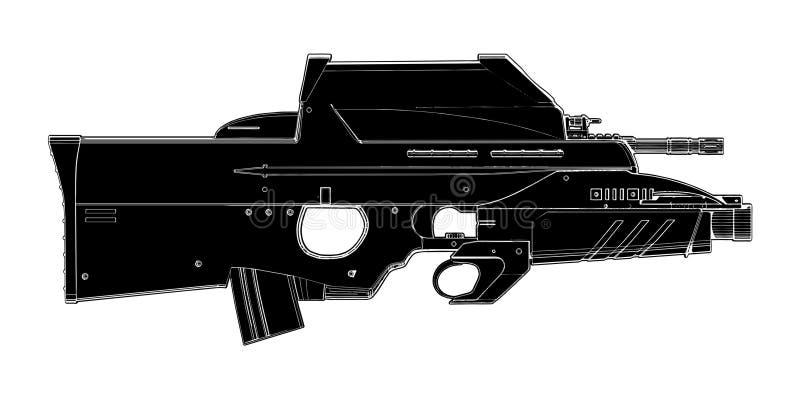 Download 01 Automatyczna Wektorowa Broń Ilustracja Wektor - Obraz: 16535197