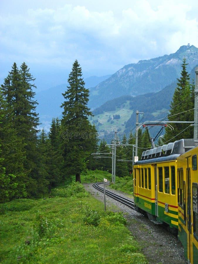 01 berner oberland wengernalpbahn zdjęcia stock