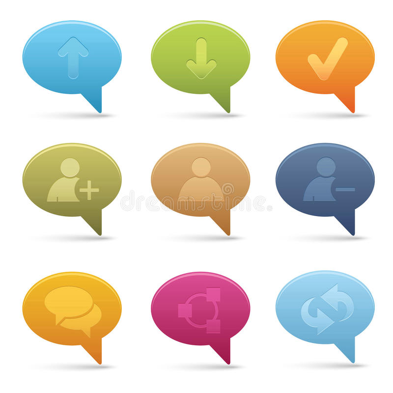 Download 01 Bubble Chat Media Icons Stock Photography - Image: 16230522