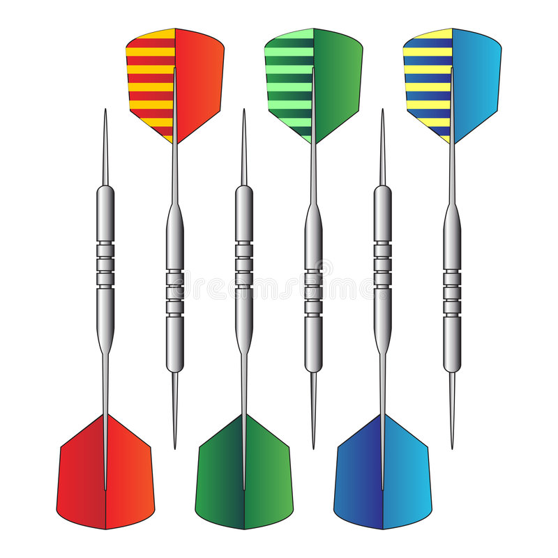 01 dartboardpilar vektor illustrationer