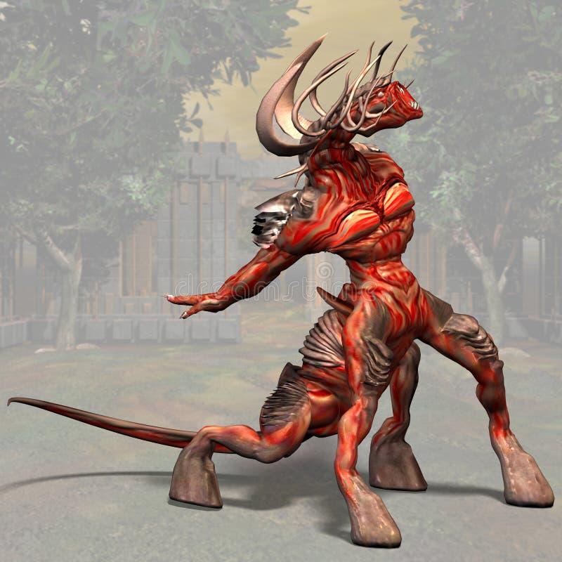 01 demon ilustracja wektor