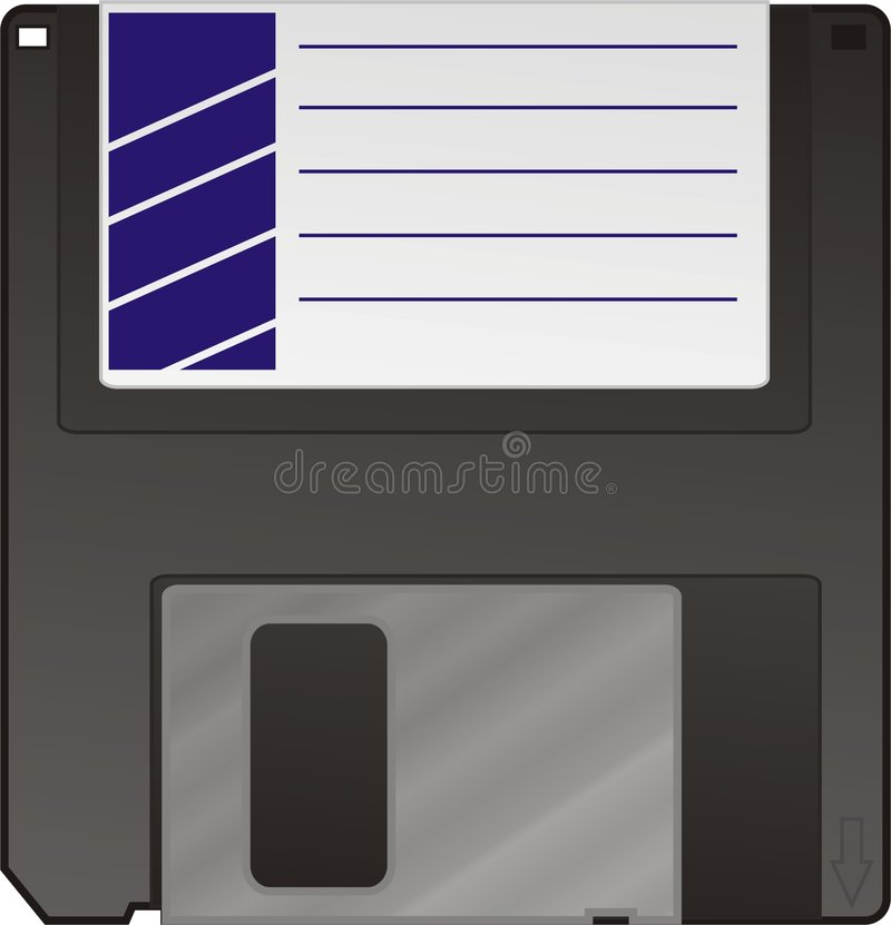 01 disk royaltyfri illustrationer