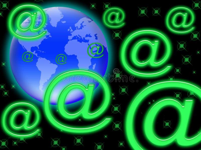 01 e邮件世界 向量例证