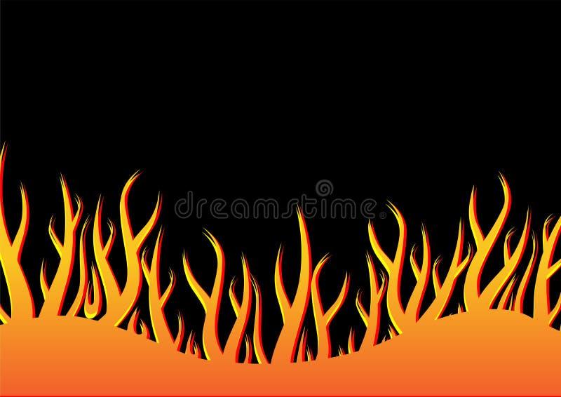 01 flammor stock illustrationer