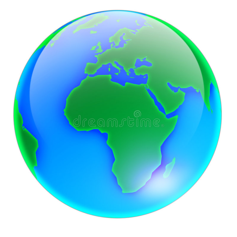 01 globu bez cienia ilustracji