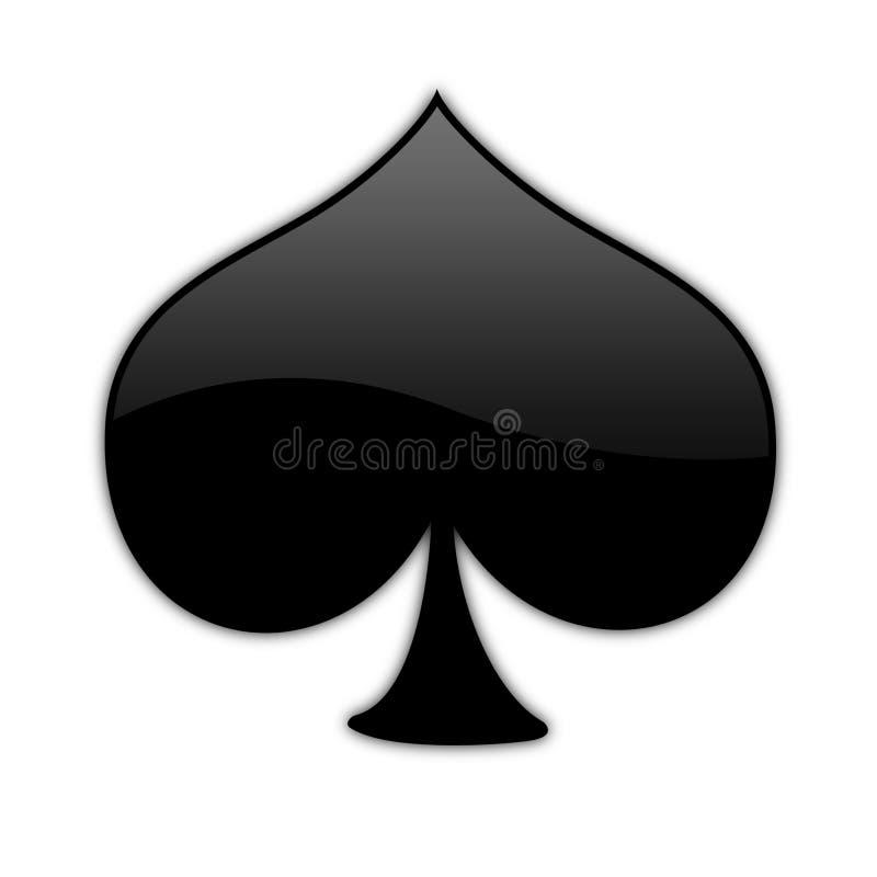 01 isolerat pokersymbol vektor illustrationer