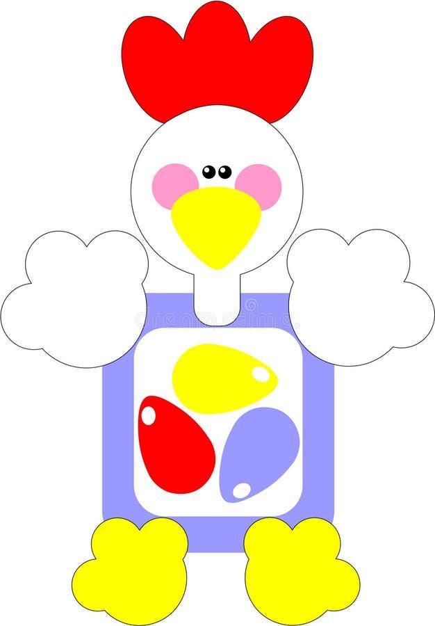 01 koguta jajeczny prezenta wakacje ilustracji