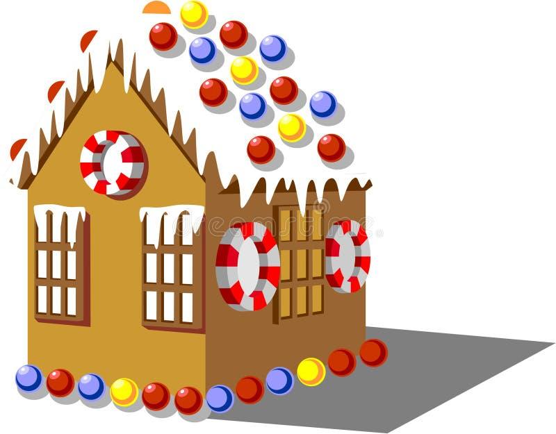 01 koloru piernikowy dom royalty ilustracja