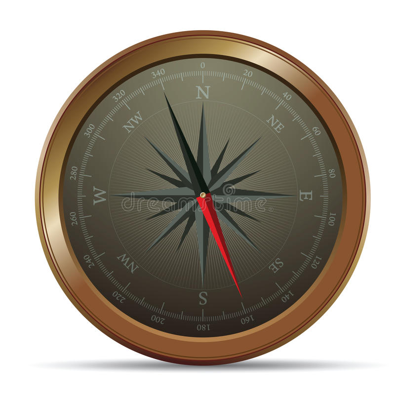 01 kompas royalty ilustracja