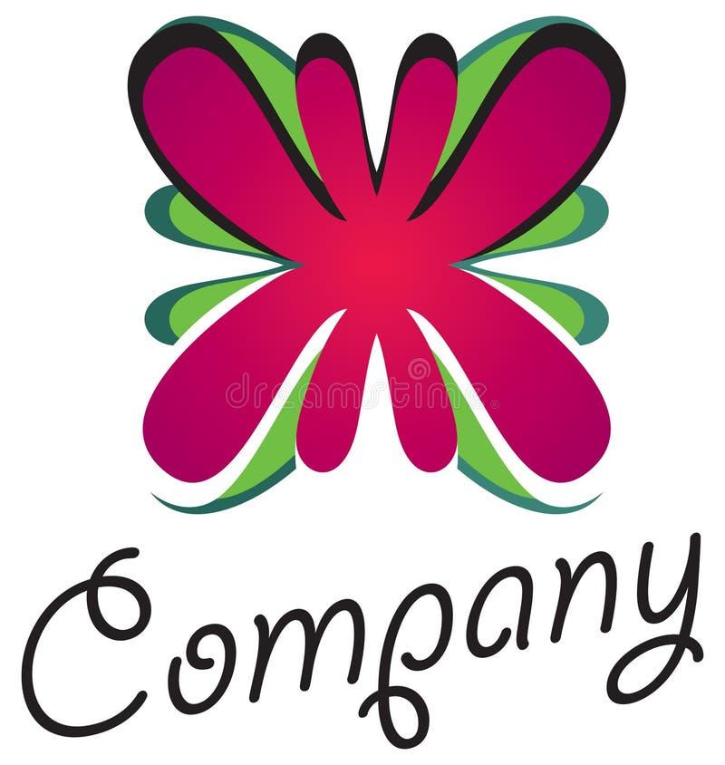 01 kwiatu logo royalty ilustracja