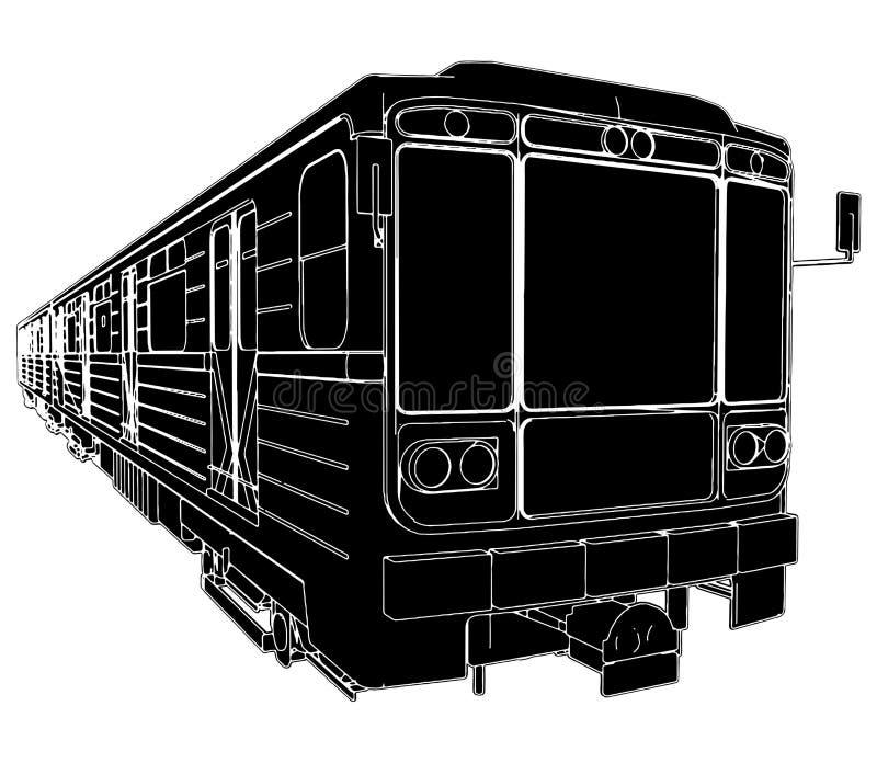 01 metra taborowy wektorowy furgon royalty ilustracja