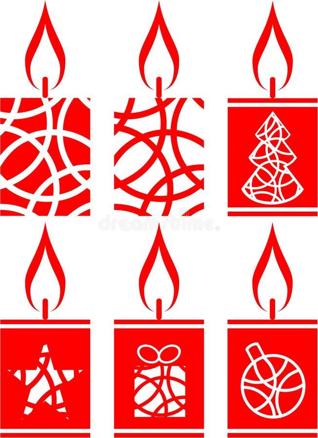 01 stearinljus set royaltyfri illustrationer